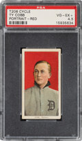 Baseball Cards:Singles (Pre-1930), 1909-11 T206 Cycle 460 Ty Cobb (Portrait-Red) PSA VG-EX+ 4...