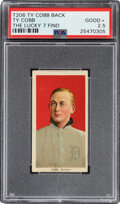 """Baseball Cards:Singles (Pre-1930), 1909-11 T206 Ty Cobb - Ty Cobb (Portrait-Red) PSA Good+ 2.5 - from The """"Lucky 7"""" Find! ..."""