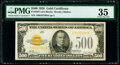 Small Size:Gold Certificates, Fr. 2407 $500 1928 Gold Certificate. PMG Choice Very Fine 35.. ...