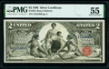 Large Size:Silver Certificates, Fr. 248 $2 1896 Silver Certificate PMG About Uncirculated ...