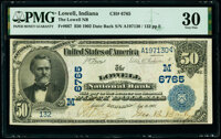 Lowell, IN - $50 1902 Date Back Fr. 667 The Lowell National Bank Ch. # (M)6765 PMG Very Fine 30