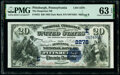 National Bank Notes:Pennsylvania, Pittsburgh, PA - $20 1882 Date Back Fr. 552 The...