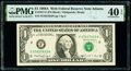 F-N Block Run 10 Plate Combo 1-2 Fr. 1917-F $1 1988A Web Federal Reserve Note. PMG Extremely Fine 40 EPQ