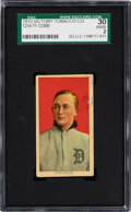 Baseball Cards:Singles (Pre-1930), 1915 T214 Victory Tobacco Ty Cobb SGC 30 Good 2 - Only Two SGC-Graded Examples! ...