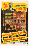 """Movie Posters:Hitchcock, Rear Window (Paramount, R-1962). Fine on Linen. One Sheet (27"""" X 41.5""""). Hitchcock.. ..."""