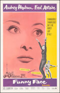 """Movie Posters:Romance, Funny Face (Paramount, R-1965). Fine/Very Fine on Linen. One Sheet (27"""" X 42""""). Romance.. ..."""