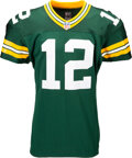 Football Collectibles:Uniforms, 2013 Aaron Rodgers Game Worn & Unwashed Green Bay Packers Jersey from The Glen Christensen Collection - Photo Matched to 10/6 ...