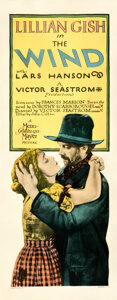 """Movie Posters:Drama, The Wind (MGM, 1928). Fine+ on Paper. Insert (14"""" X 36"""").. ..."""