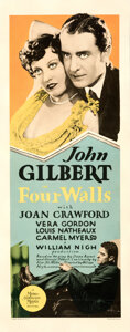 """Movie Posters:Crime, Four Walls (MGM, 1928). Fine/Very Fine on Paper. Insert (14"""" X 36"""").. ..."""