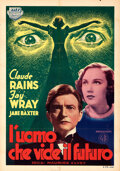 """Movie Posters:Horror, The Clairvoyant (ODIT Titanus, 1939). Folded, Very Fine. First Release Italian Foglio (27.5"""" X 39.5"""").. ..."""