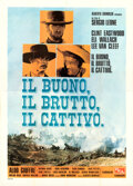 """Movie Posters:Western, The Good, the Bad and the Ugly (PEA, R-1970s). Folded, Very Fine. Italian 4 - Fogli (55"""" X 77"""").. ..."""