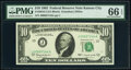 Small Size:Federal Reserve Notes, Fr. 2016-J $10 1963 Federal Reserve Note. PMG Gem Uncirculated 66 EPQ.. ...