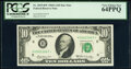 Small Size:Federal Reserve Notes, Fr. 2019-H* $10 1969A Federal Reserve Note. PCGS Very Choi...