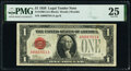 Small Size:Legal Tender Notes, Fr. 1500 $1 1928 Legal Tender Note. PMG Very Fine 25.. ...