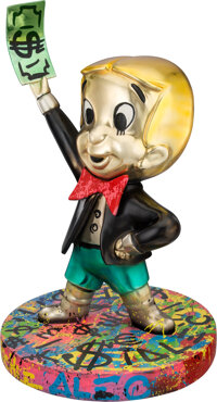 Alec Monopoly (b. 1986) Richie, 2016 Painted fiberglass with wooden base 56-1/2 x 35-1/2 inches (