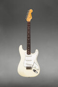 Musical Instruments:Electric Guitars, 1965 Fender Stratocaster Olympic White Solid Body Electric...