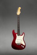 Musical Instruments:Electric Guitars, 1964 Fender Stratocaster Candy Apple Red Solid Body Electr...