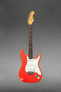 Musical Instruments:Electric Guitars, 1965 Fender Stratocaster Fiesta Red Solid Body Electric Gu...