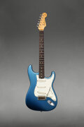 Musical Instruments:Electric Guitars, 1964 Fender Stratocaster Lake Placid Blue Solid Body Elect...