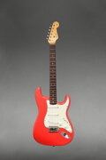 Musical Instruments:Electric Guitars, 1963 Fender Stratocaster Fiesta Red Solid Body Electric Gu...