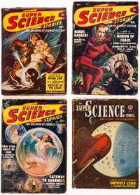 Super Science Stories Group of 5 (Popular, 1949-51) Condition: Average GD/VG.... (Total: 5 Items)