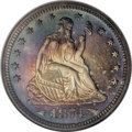 Proof Seated Quarters: , 1874 25C Arrows PR67 NGC. This Superb Gem is an exquisite proofwith excellent eye appeal created by a presentation of blue...
