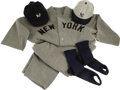 "Movie/TV Memorabilia:Costumes, John Goodman ""The Babe"" Costume Yankees Uniform. A period New YorkYankees uniform consisting of jersey, pants, stirrups, an..."
