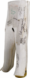 "Movie/TV Memorabilia:Costumes, Tom Cruise Costume Body Cast from ""Born on the Fourth of July."" A costume body cast complete with faux signatures (including..."