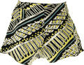 Music Memorabilia:Costumes, Buddy Holly Swimming Trunks. A pair of black swimming trunks with white, yellow, and blue design, a partially elastic waist,...