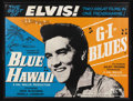 Music Memorabilia:Posters, Elvis Presley UK Double-Feature Movie Poster. Here's a greattwo-inj-one British poster advertising an Elvis double-feature ...