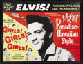 Music Memorabilia:Posters, Elvis Presley British Double-Feature Movie Poster. A British posteradvertising an Elvis double-feature that included Girl...