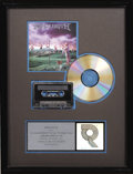 "Music Memorabilia:Awards, Megadeth ""Youthanasia"" RIAA Platinum Album Award. Presented to KILOto commemorate the sale of one million copies of the 199..."