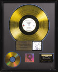 "Music Memorabilia:Awards, Metallica ""...And Justice For All"" RIAA Gold Album Award. Presentedto Metallica by the RIAA to commemorate the sale of 500,..."