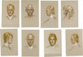 """Movie/TV Memorabilia:Original Art, Richard Harris Sketches. A set of eight 12.5"""" x 19"""" sketches, pastel on paper, of the venerable actor by Artie Lane. These w..."""