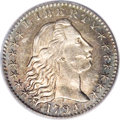 Early Half Dimes: , 1794 H10C AU58 PCGS. V-3, LM-3, R.4. The variety is attributed by:digit 1 of the date under the right center of curl 1, st...