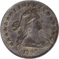 Early Half Dimes: , 1797 H10C 13 Stars VF20 PCGS. V-1, LM-4, R.6. The rarest diemarriage of the date, and also the rarest Guide Bookvarie...