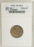 Early Dimes: , 1801 10C --Cleaned--ANACS. VF30 Details. JR-2, R.5. This mediumgray rare date die is hairlined, but the reverse has much of...