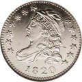 Bust Dimes: , 1820 10C Medium 0 MS64 Prooflike NGC. JR-11, R.3. Star 1 points to the space above the upper fold, and the T in UNITED is v...