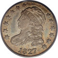 Bust Dimes: , 1827 10C MS63 PCGS. JR-13, R.3. The variety is attributed by star 7pointing to the upper edge of the headband, and the let...