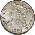 Bust Dimes: , 1827 10C MS64 PCGS. JR-13, R.3. A softly lustrous representative ofthis scarce variety, notable for the recut E in STATES....