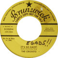 """Music Memorabilia:Recordings, Buddy Holly and the Crickets 45 Group of 7. What a group! TheCrickets' """"Not Fade Away""""/ """"Oh Boy!"""" with sleeve autographed b...(Total: 7 )"""