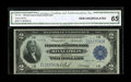Fr. 772 $2 1918 Federal Reserve Bank Note CGA Gem Uncirculated 65. The certified grade of 65 appears to be right on the...
