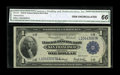 Fr. 743 $1 1918 Federal Reserve Bank Note CGA Gem Uncirculated 66. Unusually broad margins for the type combined with ex...