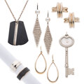 Estate Jewelry:Lots, Tiffany & Co. Cultured Pearl, Silver, Titanium, Stainless Steel Jewelry. ... (Total: 7 Items)