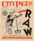 Memorabilia:Comic-Related, City Pages V9#361 Signed and Remarqued by Art Spiegelman (City Pages Inc., 1987) Condition: VF....