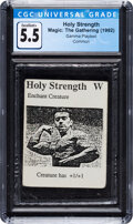 Memorabilia:Trading Cards, Magic: The Gathering Holy Strength Gamma Playtest Edition (Magic: The Gathering, 1992) CGC Excellent+ 5.5....