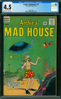 Archie's Madhouse #28 (Archie, 1963) CGC VG+ 4.5 OFF-WHITE TO WHITE pages