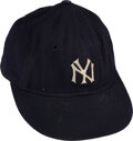 Baseball Collectibles:Hats, Circa 1941 Joe DiMaggio Game Worn & Signed New York Yankees Cap, MEARS Authentic....