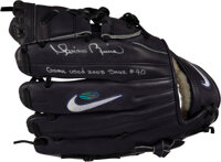 2003 Mariano Rivera Game Worn & Signed Fielder's Glove Used for 40th and Final Save of Season with Rivera Letter