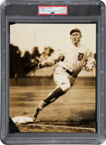 Baseball Collectibles:Photos, Circa 1912 Ty Cobb Original News Photograph by William Kuenzel from The Ty Cobb Collection, PSA/DNA Type 1....